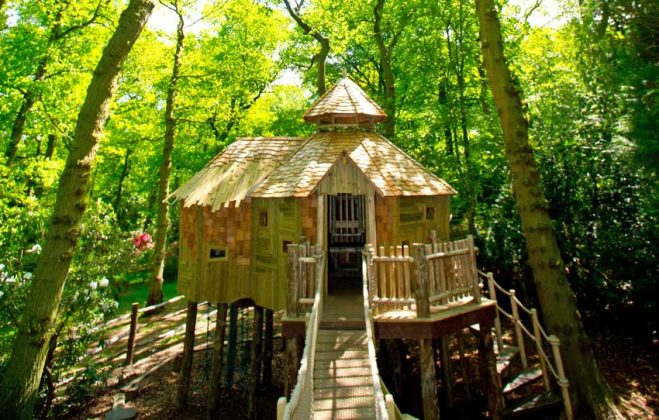 Craggle Top Treehouse at RHS Harlow Carr. Picture; RHS/SiRA Studio