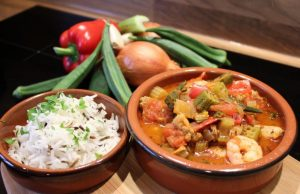 Creole Okra with Chicken and Prawns. Picture; Burpee Europe